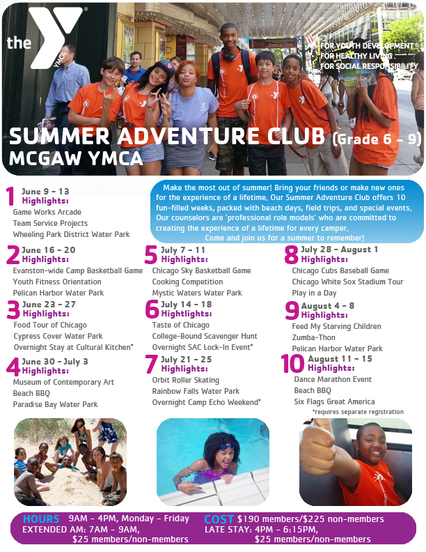 Summer Adventure Club Flyer